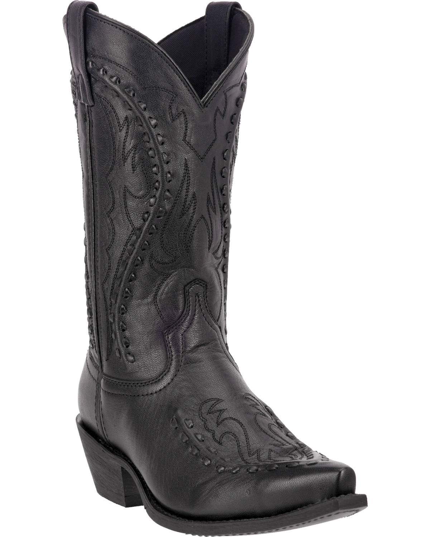 Laredo Mens Laramie Snip Toe Western Boots, Black, hi-res