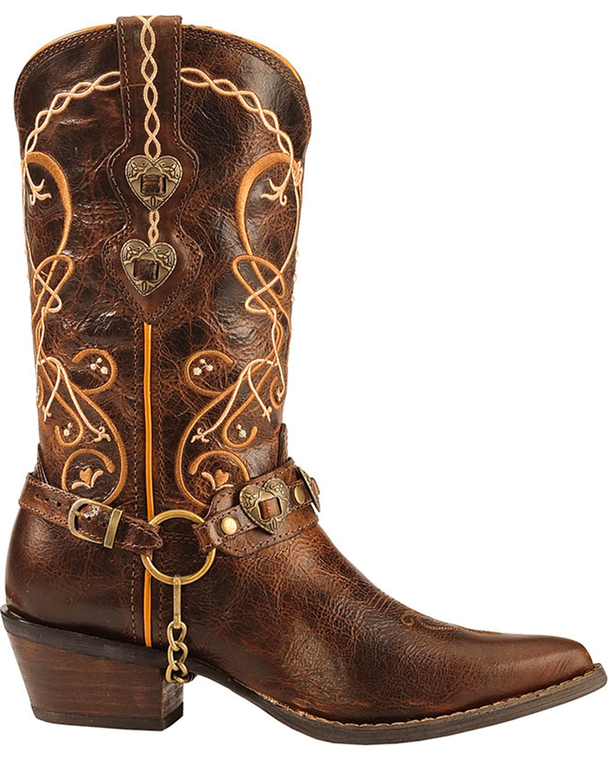 Crush By Durango Women's Brown Heart Breaker Concho