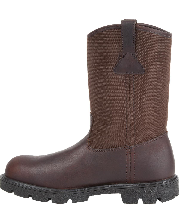Georgia Mens Homeland Waterproof Wellington Boots Brown hires