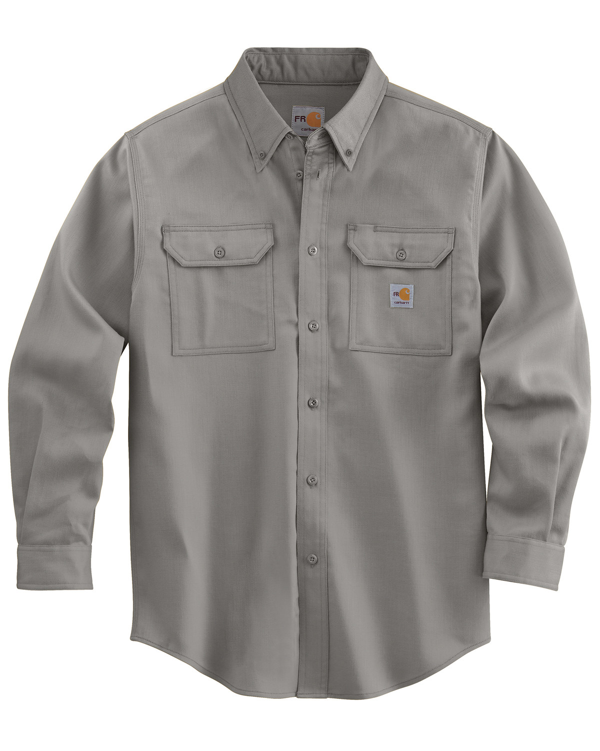 Carhartt men 39 s long sleeve flame resistant dry twill work for Long sleeve carhartt shirt