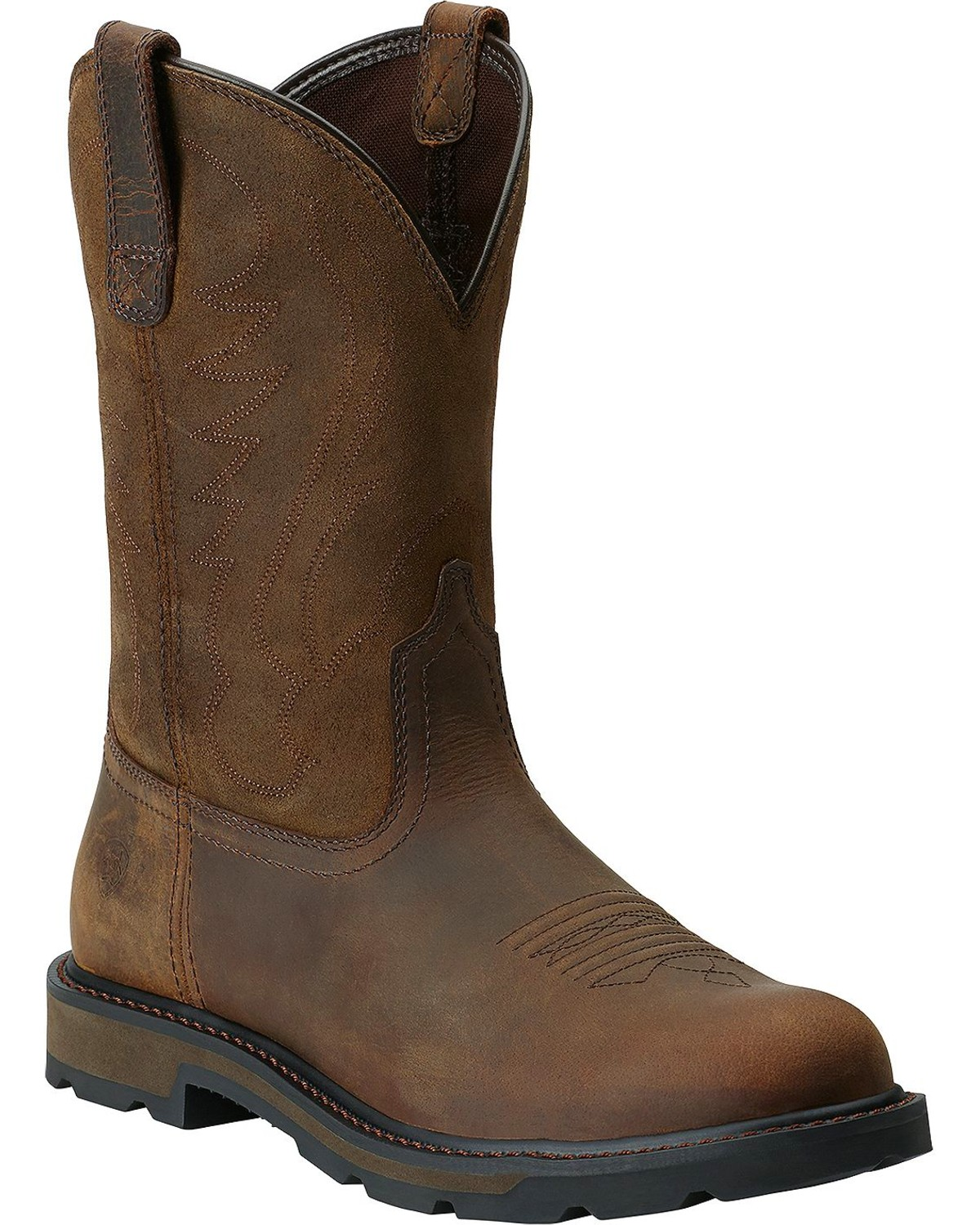 Ariat Groundbreaker Pull On Work Boots Round Toe Boot Barn