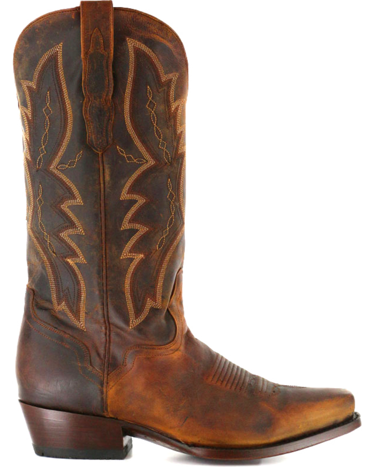 El Dorado Men's Distressed Goat Square Toe Western Boots