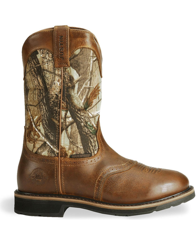 Justin Men S Stampede Waterproof Work Boots Boot Barn