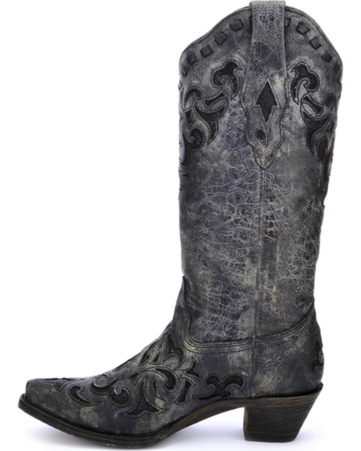 Corral Women S Metallic Stingray Inlay Western Boots