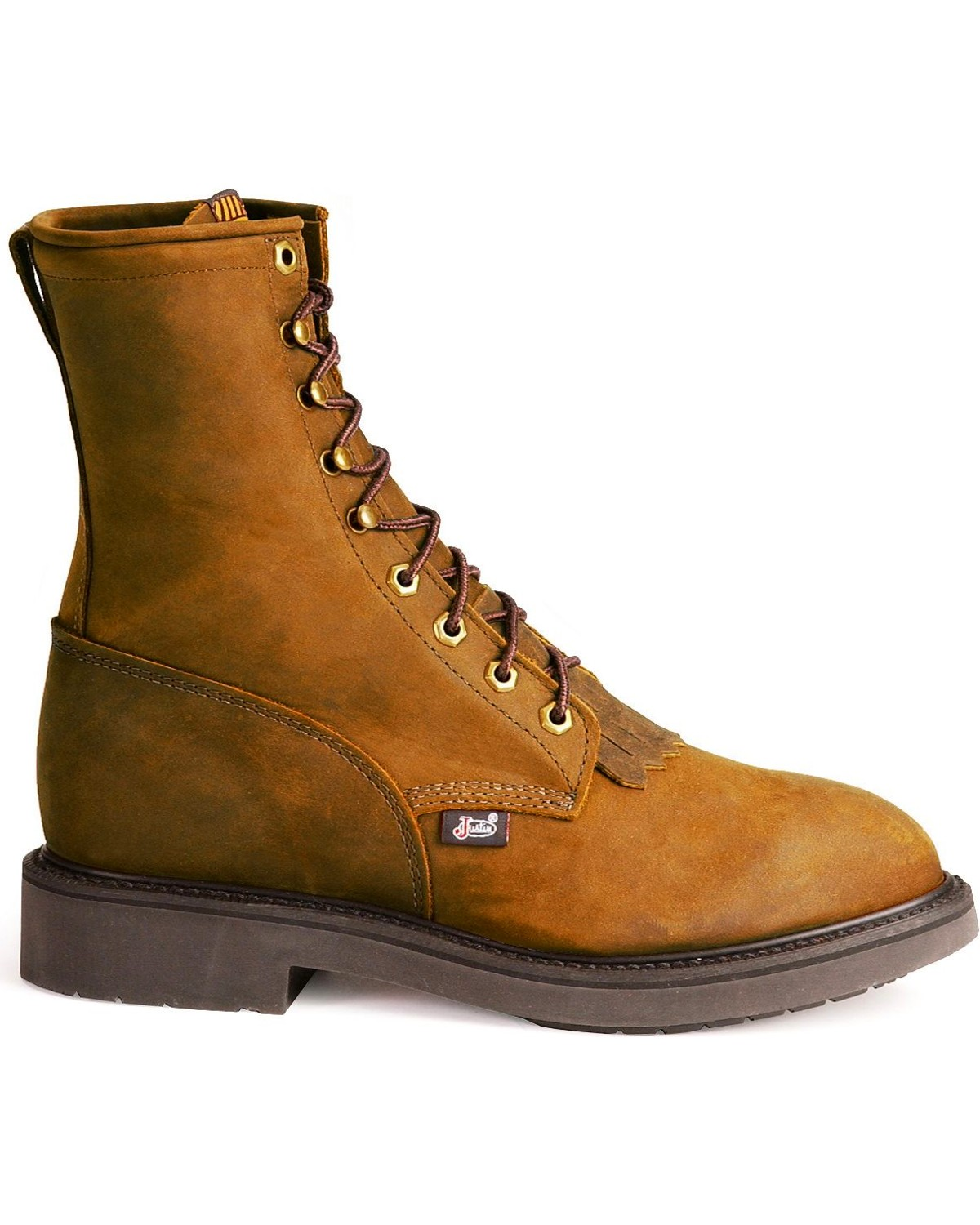 Justin Men S 8 Quot Lace Up Steel Toe Work Boots Boot Barn
