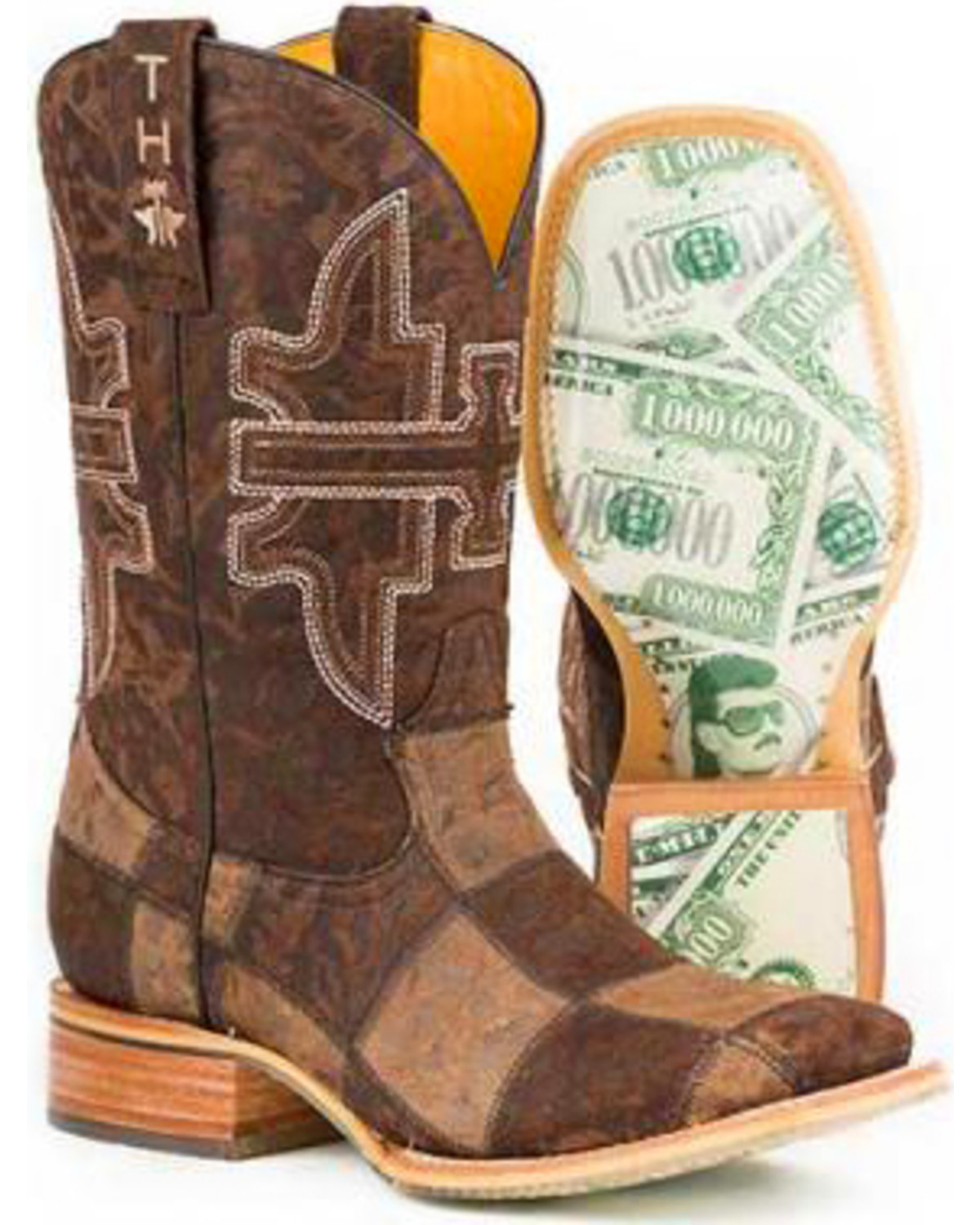 Men's Million Dollar Check Western Boot