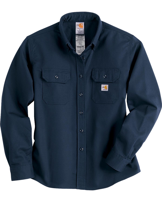 Carhartt women 39 s flame resistant twill work shirt boot barn for Flame resistant work shirts