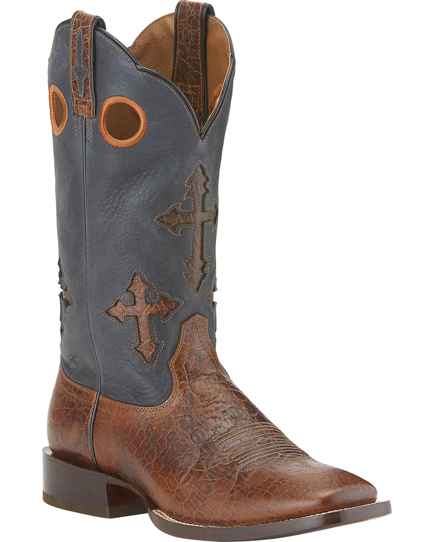 Ariat Ranchero Cowboy Boots - Wide Square Toe