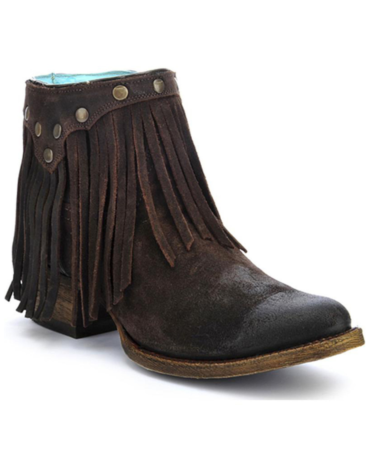 Western Home Decor Corral Women S Fringe Round Toe Western Booties Boot Barn