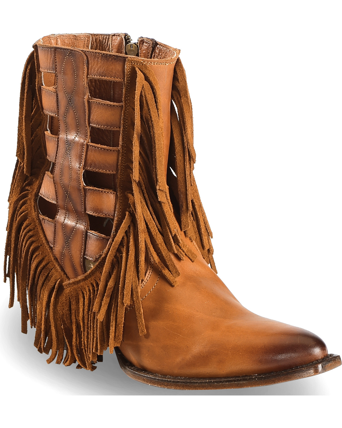 Dan Post Women S 6 Quot Caged Fringe Western Boots Round Toe