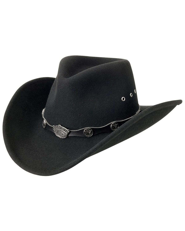 jack daniel s logo conchos crushable wool felt cowboy hat boot barn