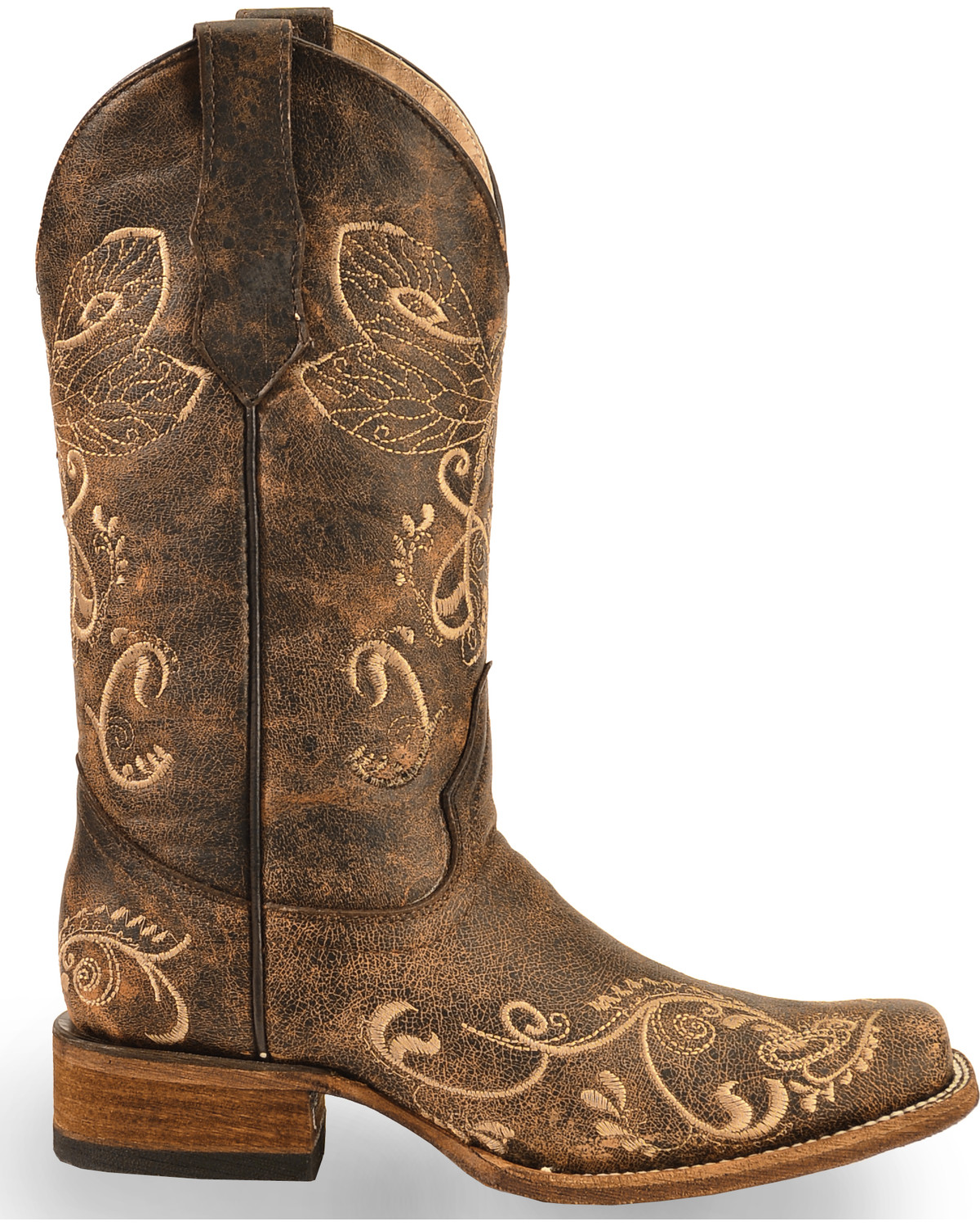 Circle G Women S Dragonfly Embroidered Western Boots