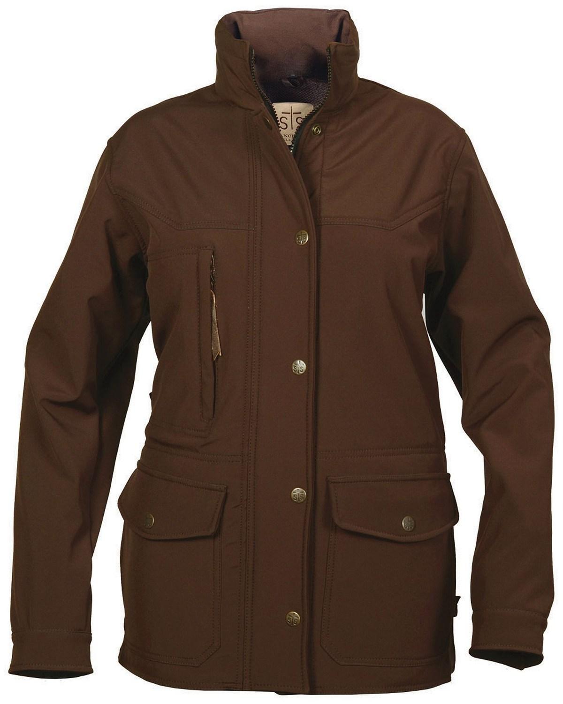 Sts Ranchwear Women S Brazos Softshell Brown Barn Jacket