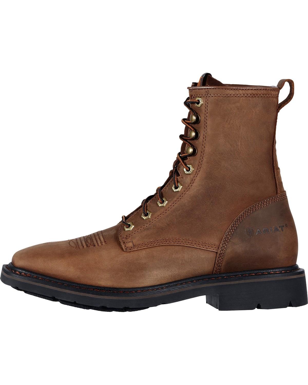 "Ariat Men's Cascade 8"" Lace-Up Work Boots"