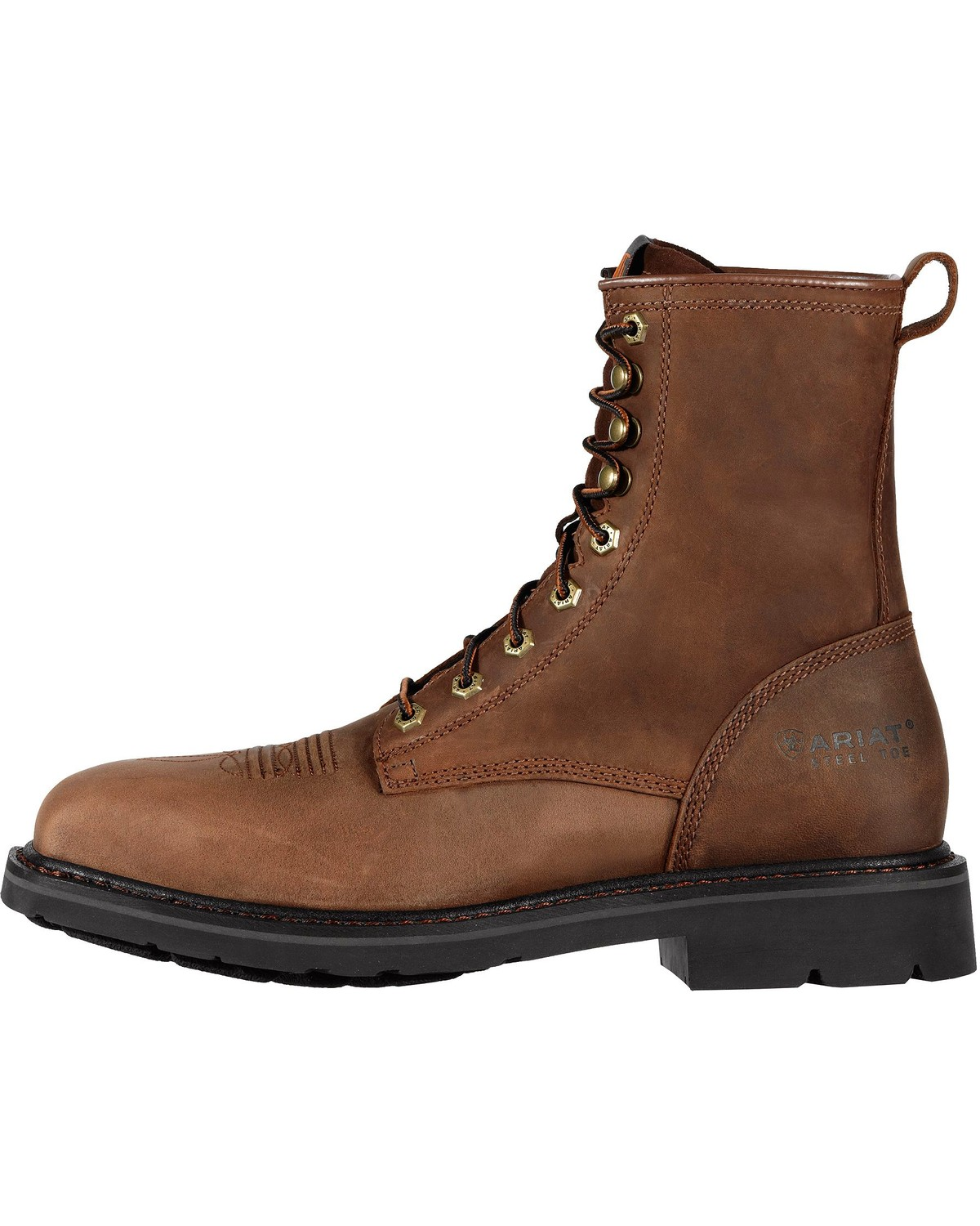 Ariat Men S Cascade 8 Quot Steel Toe Lace Up Work Boots Boot