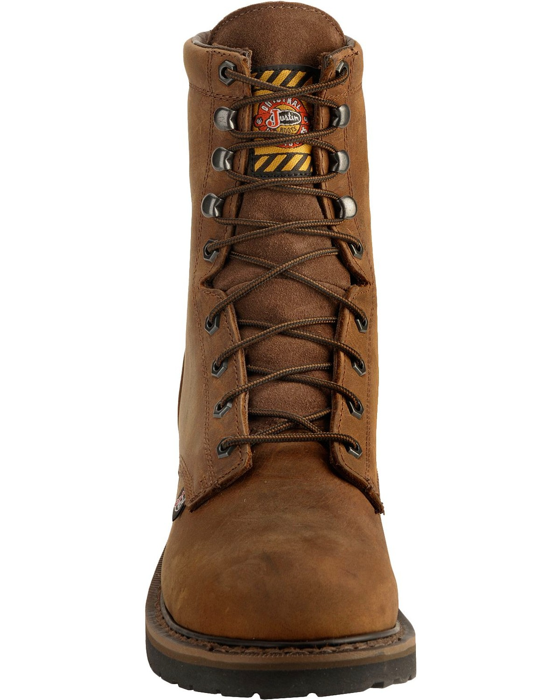 Justin Men S Wyoming 8 Quot Waterproof Steel Toe Lace Up Work