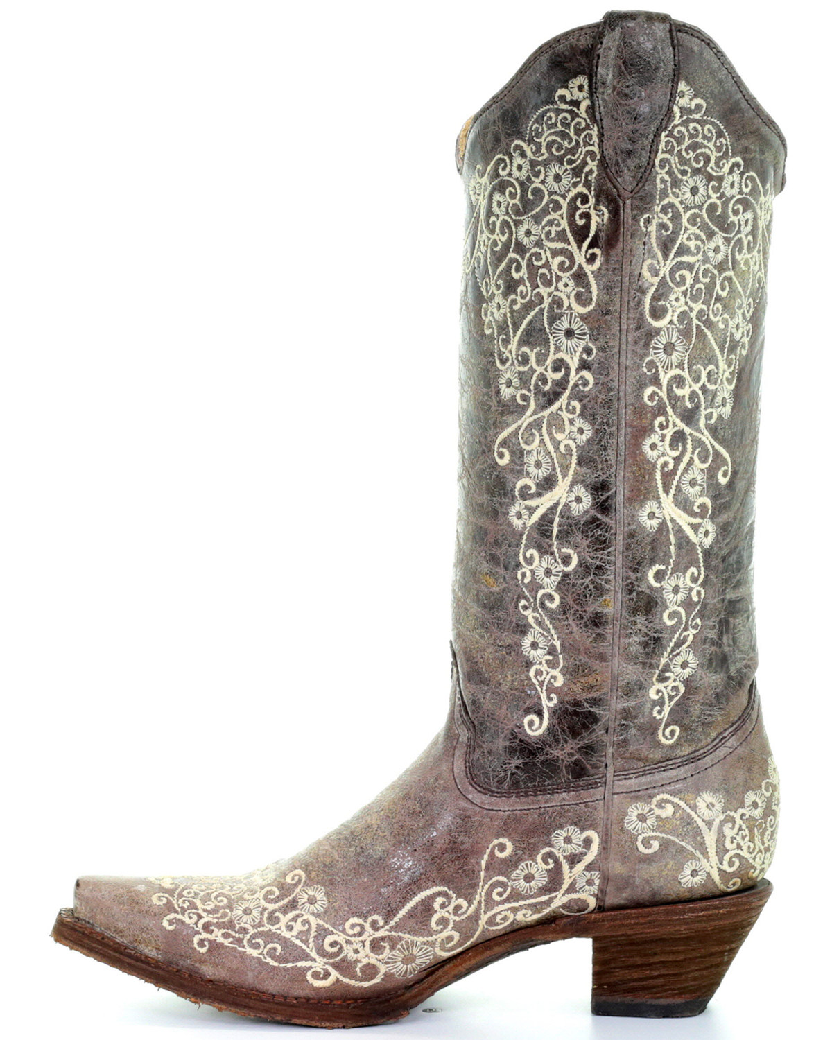 Twisted X Size 7.5 B Womens Embroidery Western Boots Distressed Saddle  Leather #TwistedX #CowboyWestern