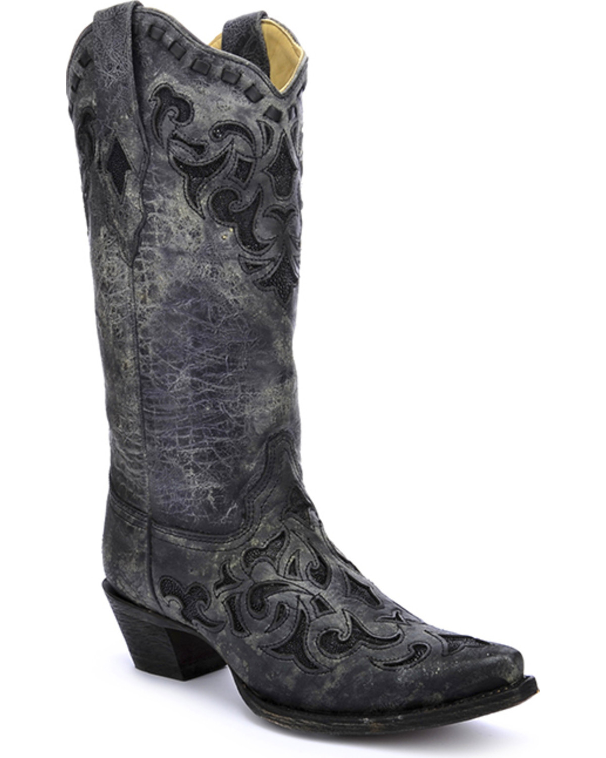 corral s metallic stingray inlay western boots