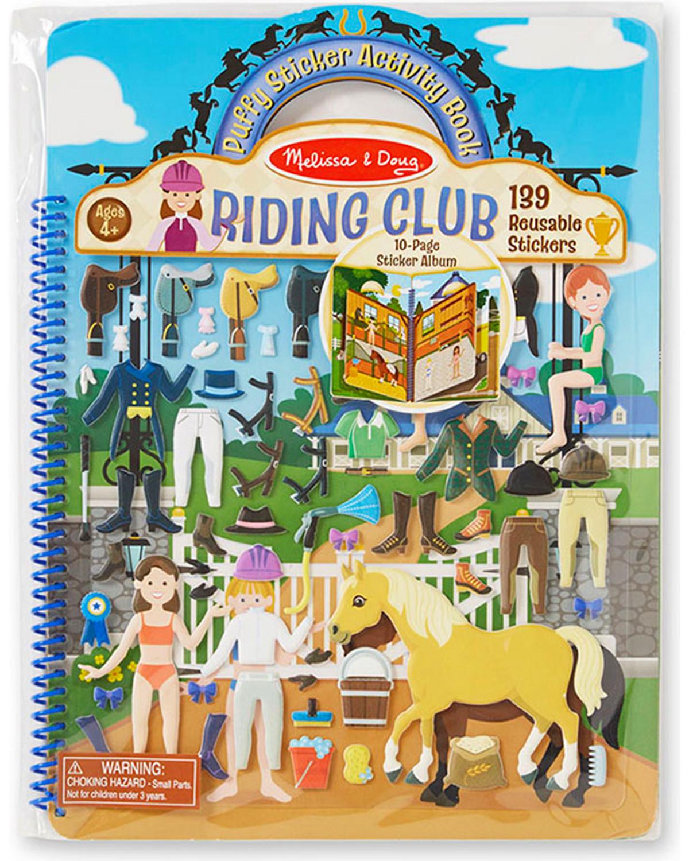 melissa doug kids riding club puffy sticker activity book no color hi - Melissa And Doug Coloring Book