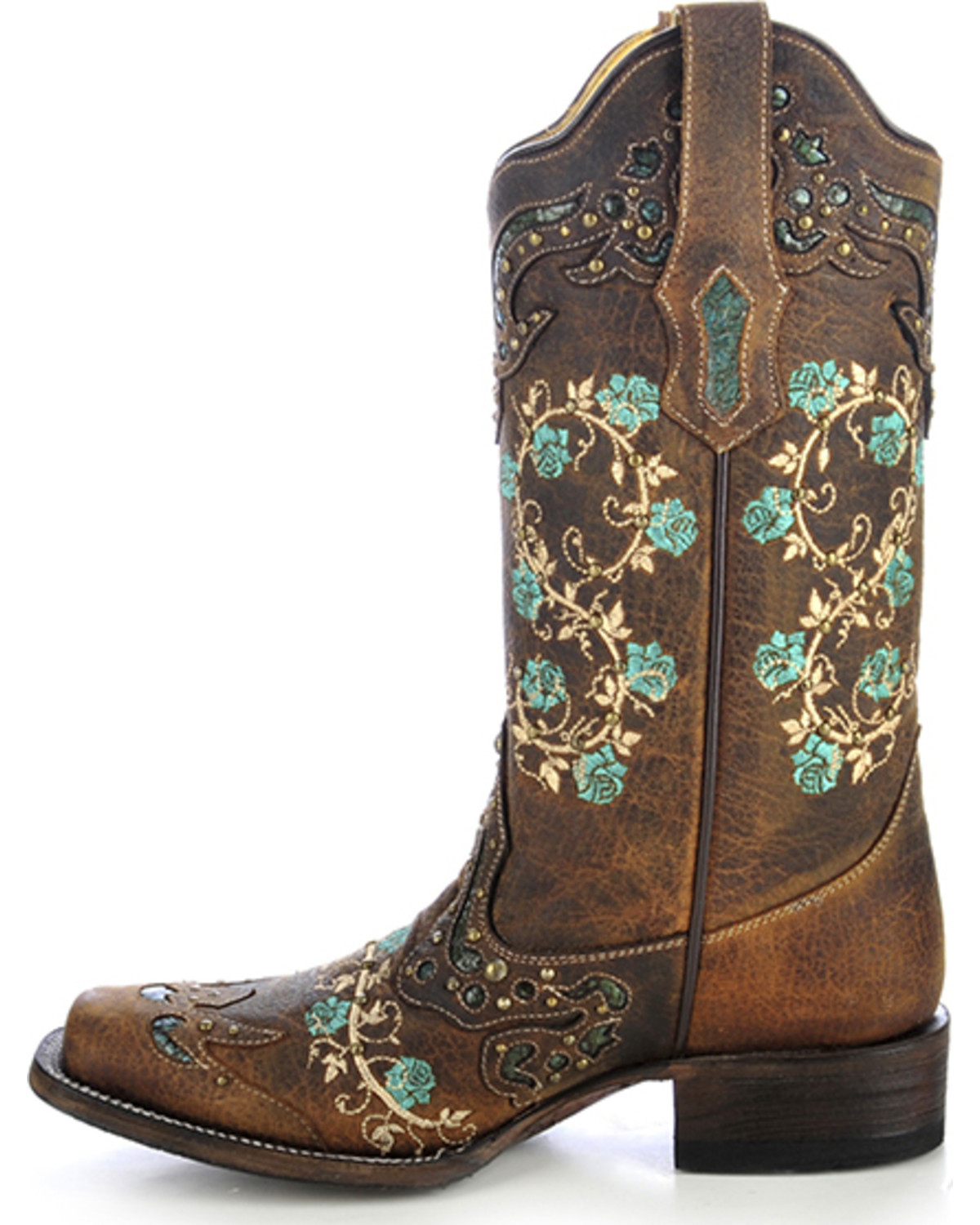 Corral women s embroidered rose western boots boot barn
