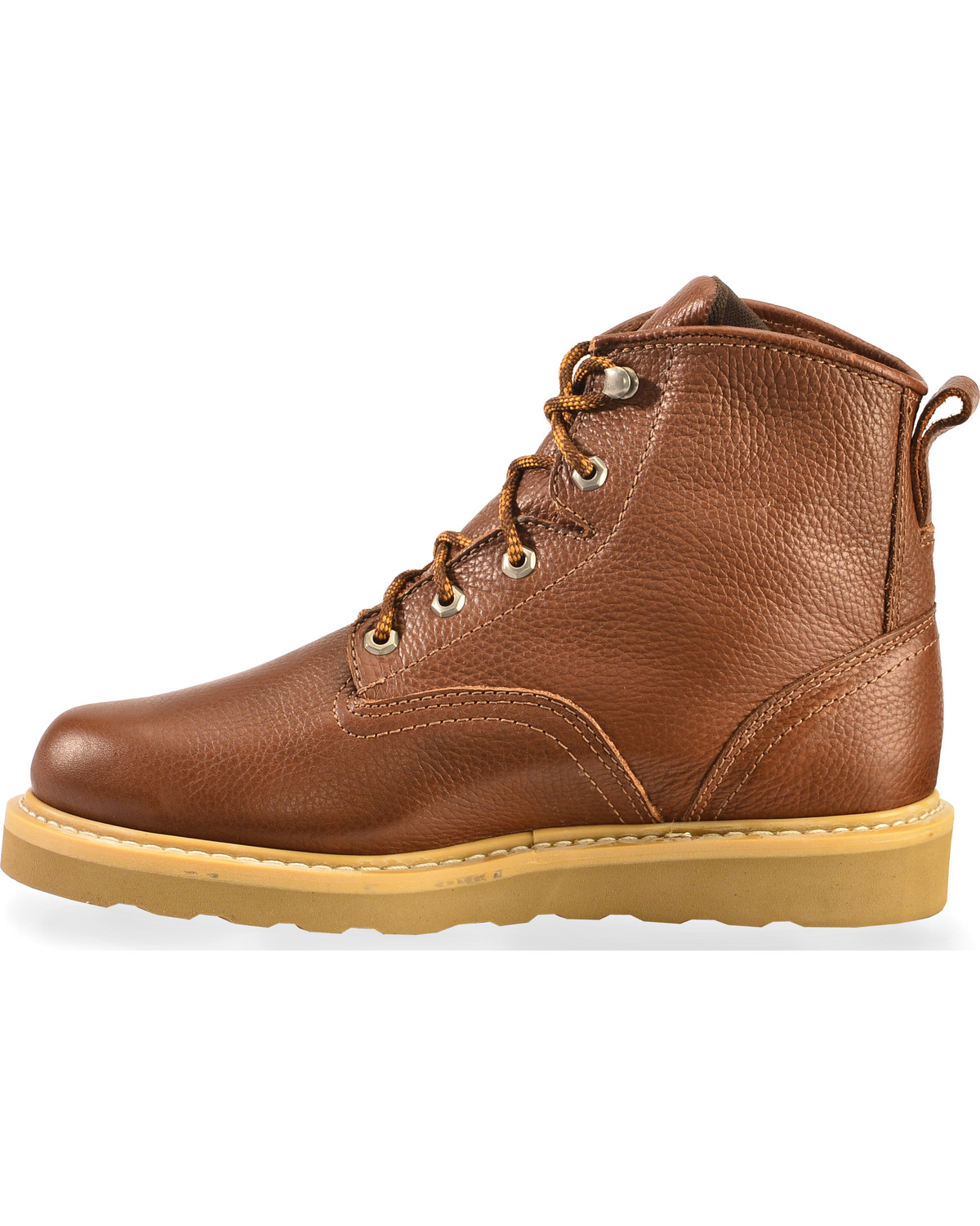 American Worker Men S 6 Quot Lace Up Work Boots Steel Toe