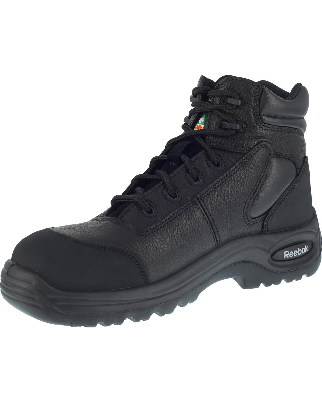 Reebok Mens Black Boot Boots Work Trainex Composite Toe Waterproof