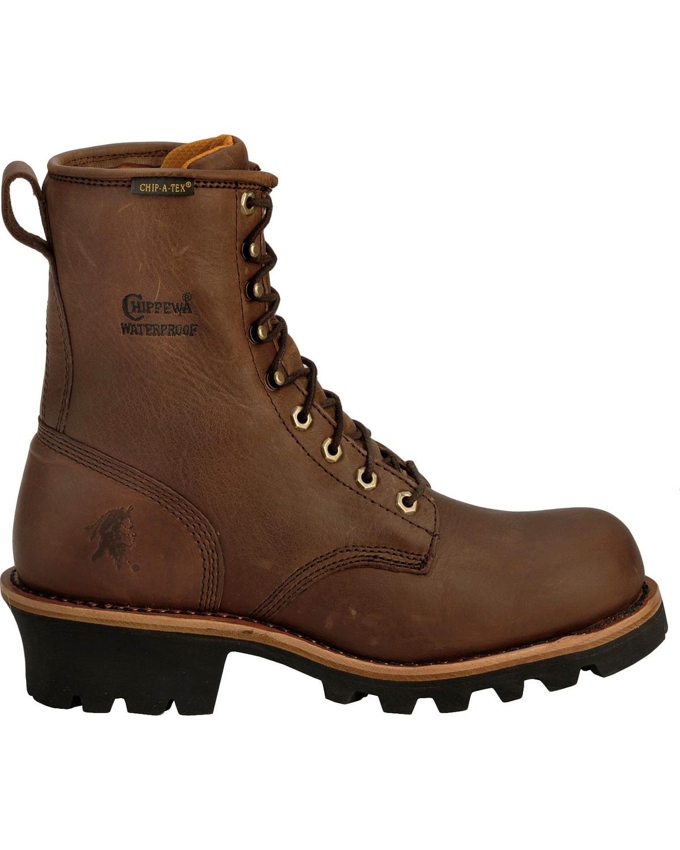 Chippewa Men's Waterprood Steel Toe Logger Work Boots