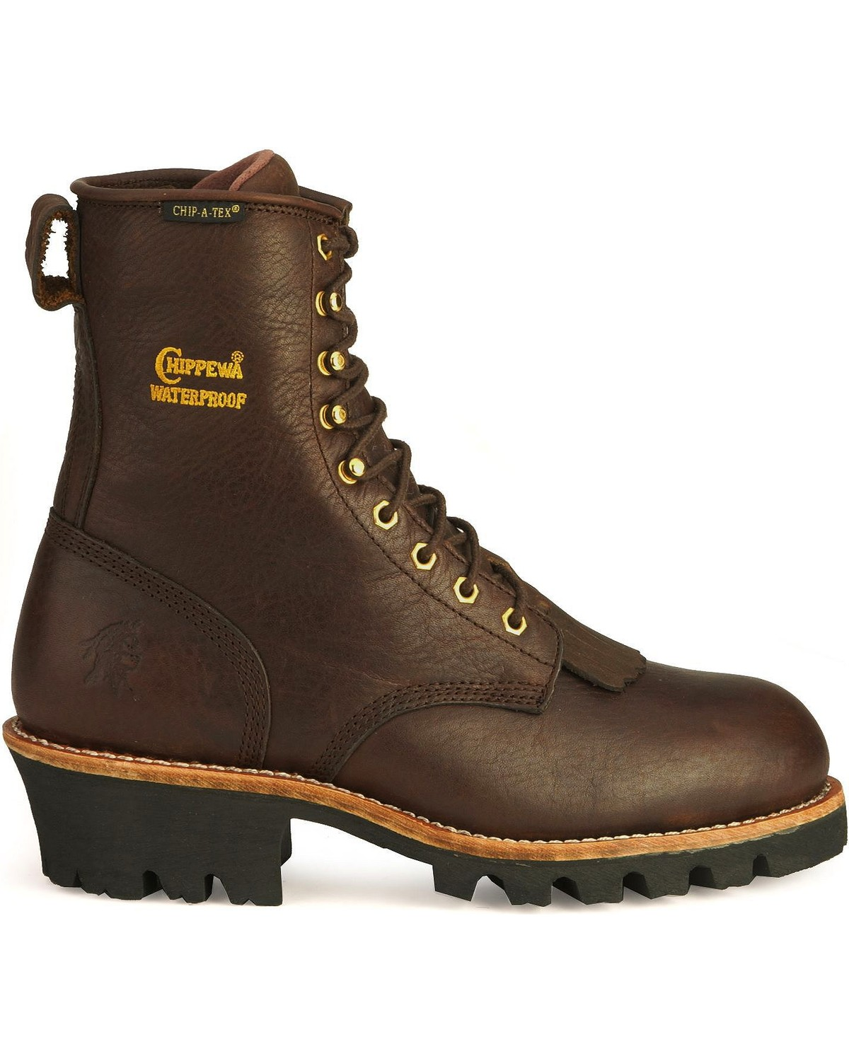 boots logger chippewa waterproof toe steel insulated boot mens
