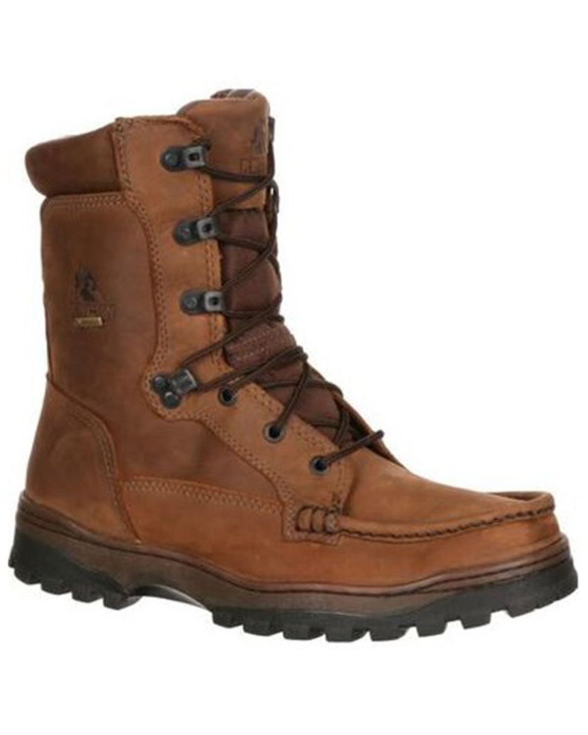 Rocky Mens Outback Boots, Brown, hi-res