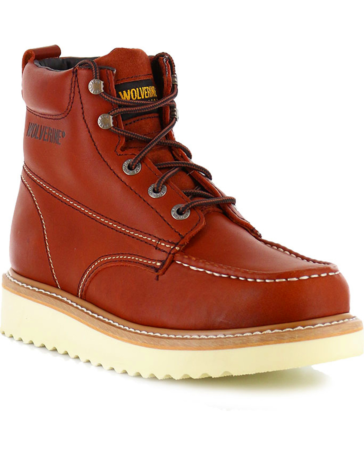 wolverine s moc toe work boots boot barn