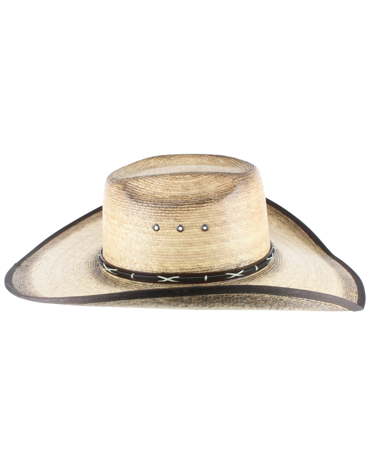 Bill Cody was a true legend in his own time who inspired a love for the 19th Century American West around the World. Our great looking Buffalo Bill Cody Commemorative Hat has a 4 1/4 inch crown with a 3 3/4 inch, kettle curled and hand shaped brim. continued Purchase one of our fine beaver-blend hand made cowboy hats and you will receive the same quality and workmanship that is worn by more.