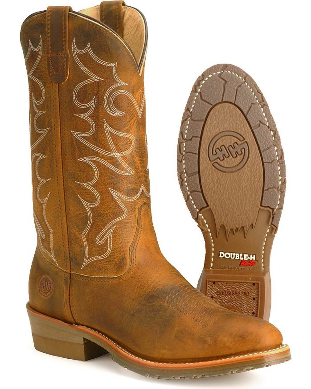 Double H Men S Gel Ice Steel Toe Western Work Boots Boot