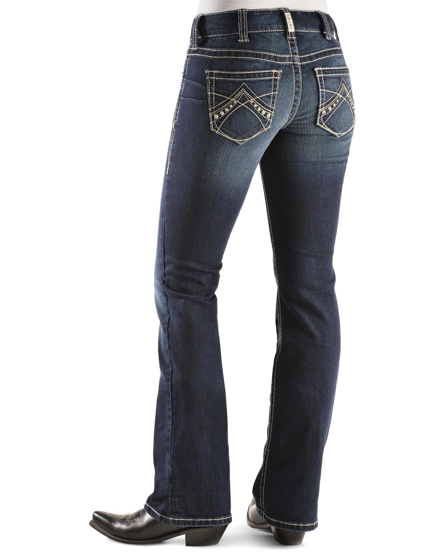 Ariat Women's Real Denim Spitfire Boot Cut Riding Jeans ...