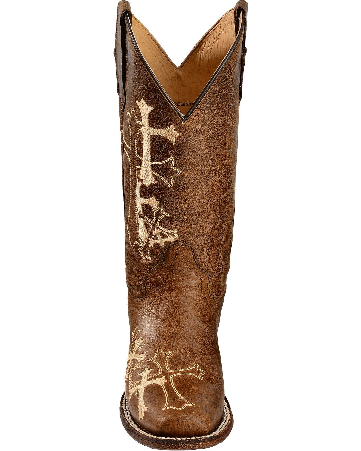 Circle G Women S Diamond Embroidered Cowgirl Boot Square: Circle G Women's Cross Embroidered Square Toe Western