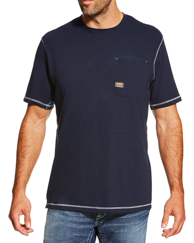 Ariat Men 39 S Rebar Spf Short Sleeve Shirt Boot Barn