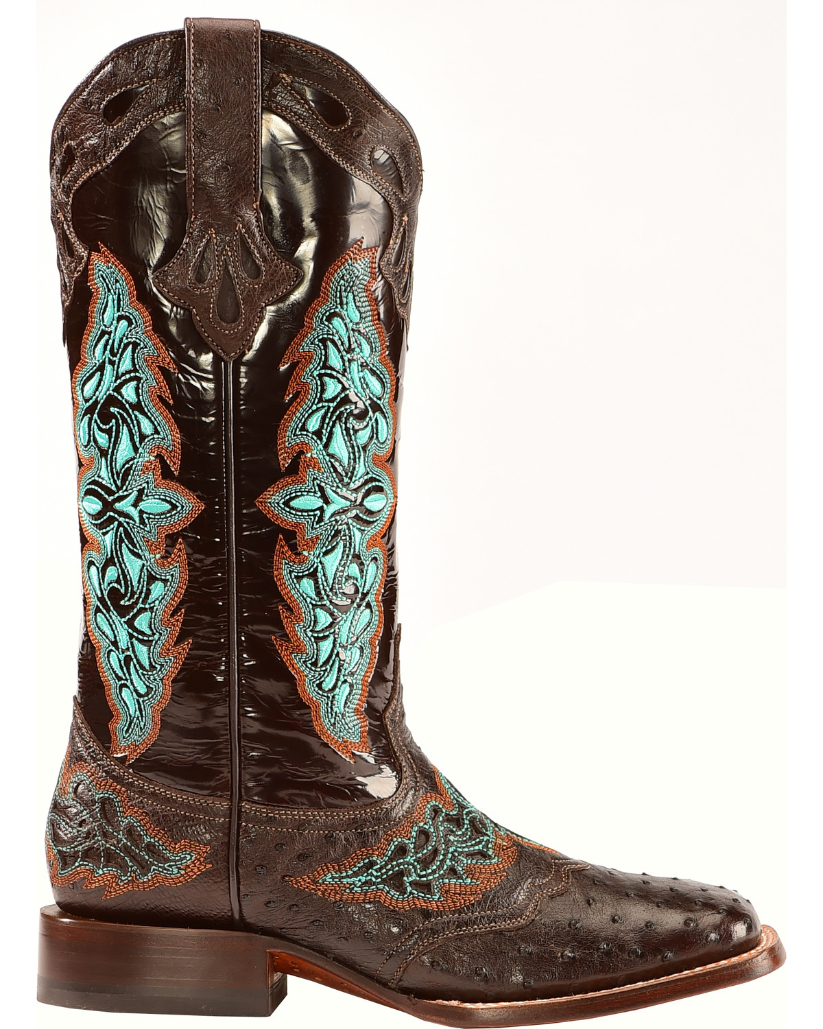 Lucchese Women S Amberlyn Full Quill Ostrich Exotic Boots