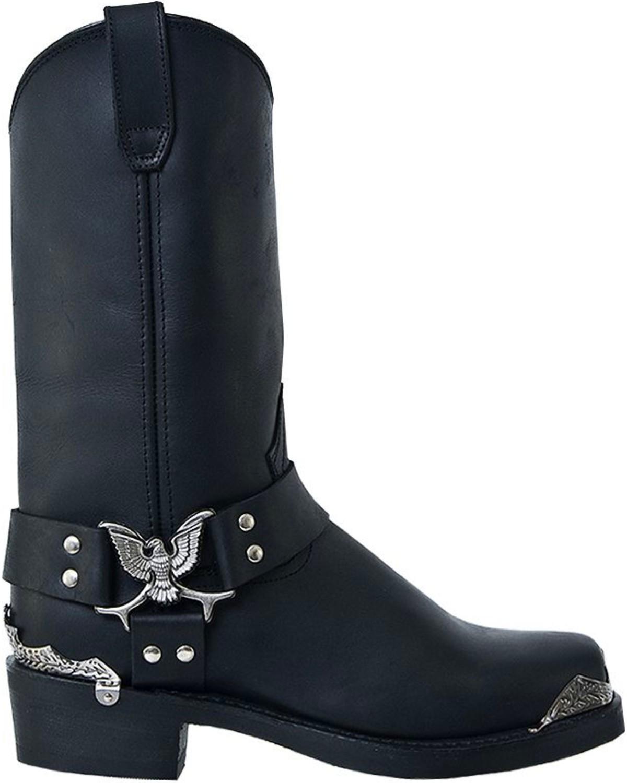 Dingo Mens Chopper Harness Boots Black hires