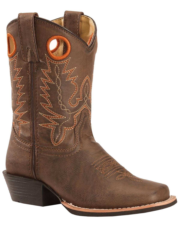 Swift Creek Boys' Brown Cowboy Boots - Square Toe   Boot Barn