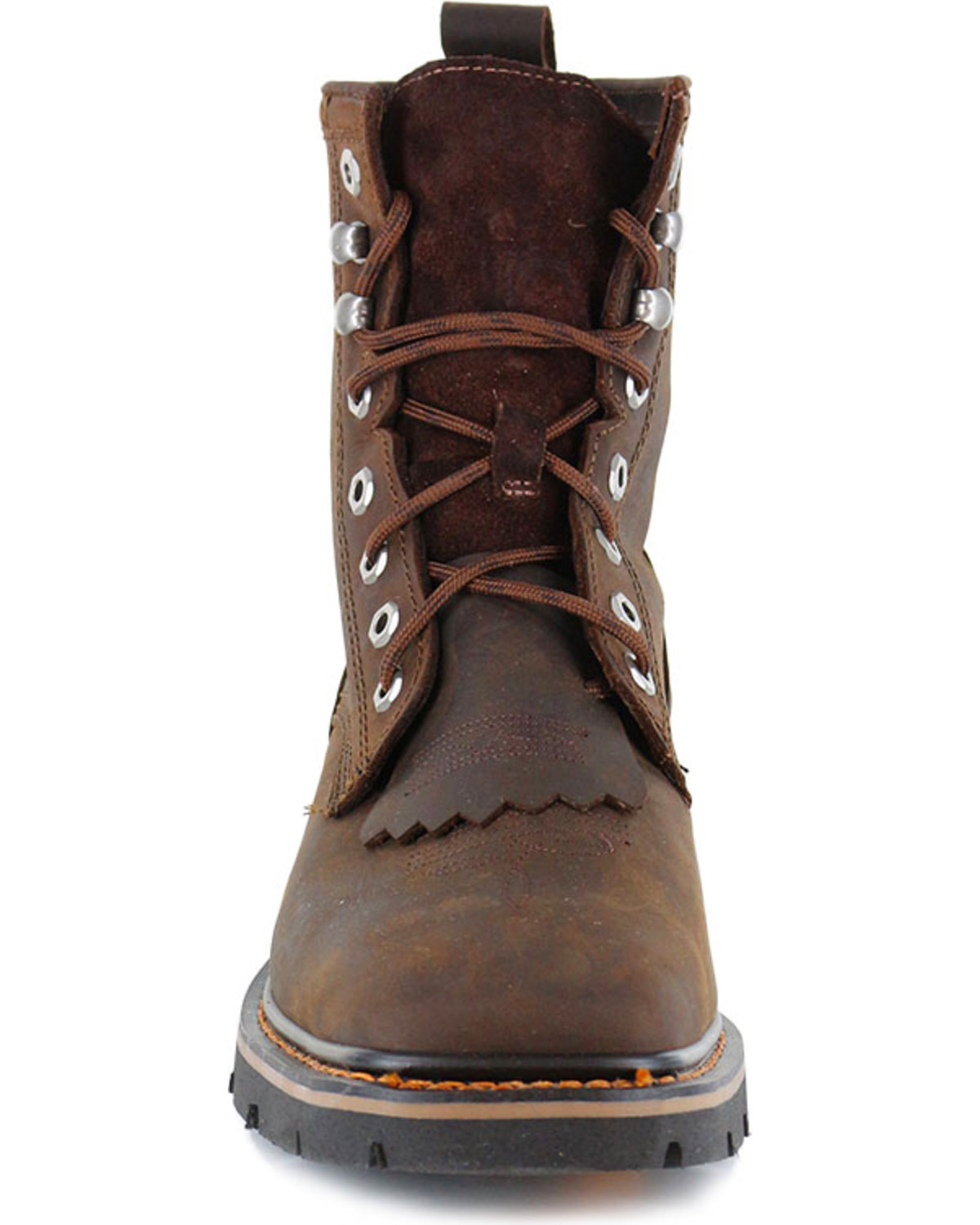 s lace up kiltie work boots square toe
