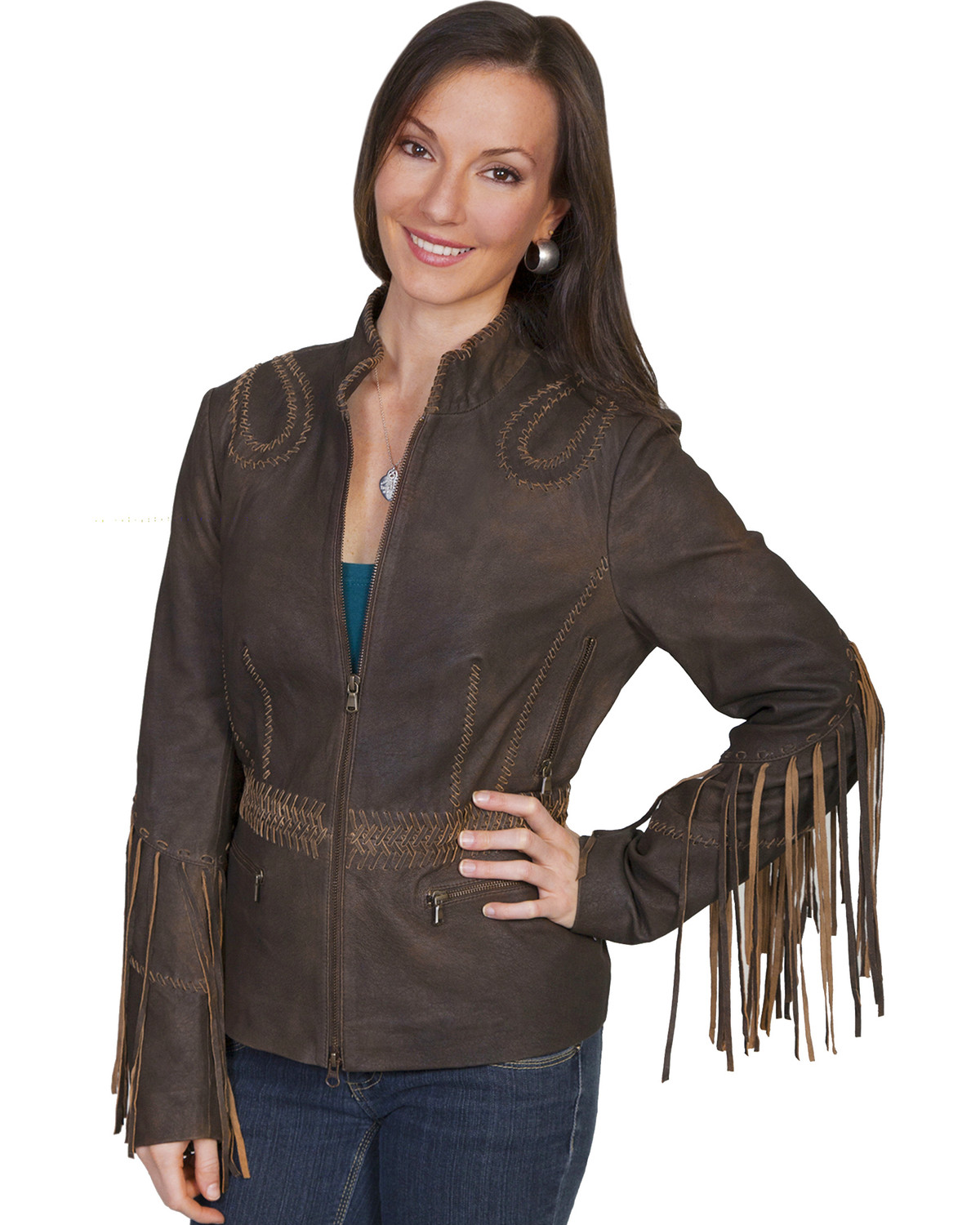 Scully Women's Fringe Leather Jacket | Boot Barn