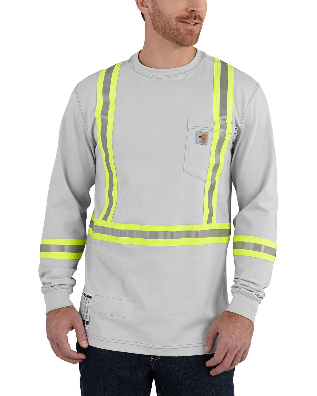 Carhartt Men's Flame Resistant Force High-Viz Long Sleeve Shirt ...