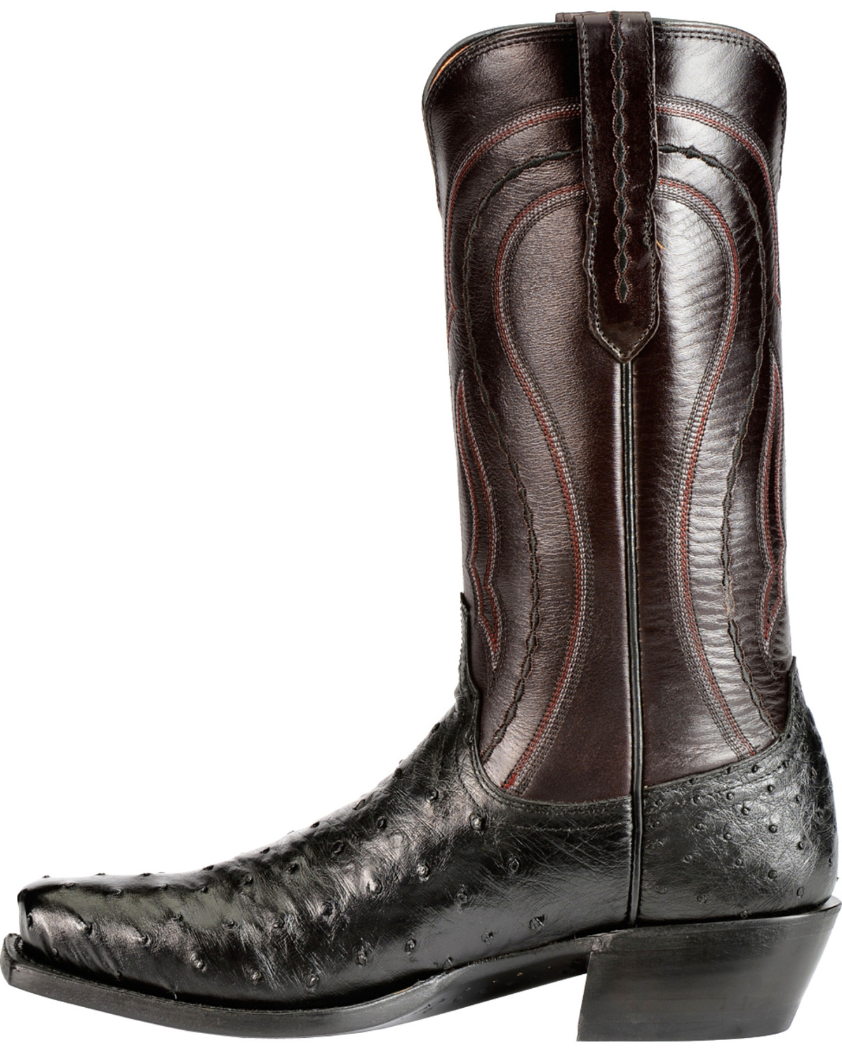 Lucchese Men S Montana Roper Toe Full Quill Ostrich Exotic