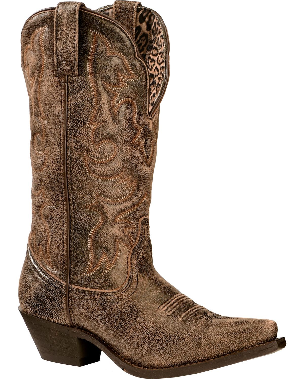 Awesome Laredo 11 Cowboy Women Round Toe Leather Western Boot | EBay