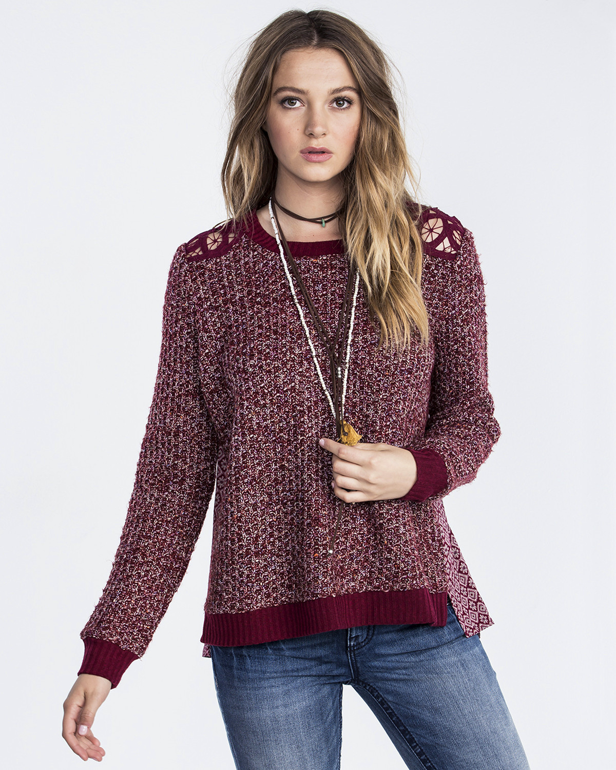 Miss Me Women's Twist Pull Over Sweater | Boot Barn