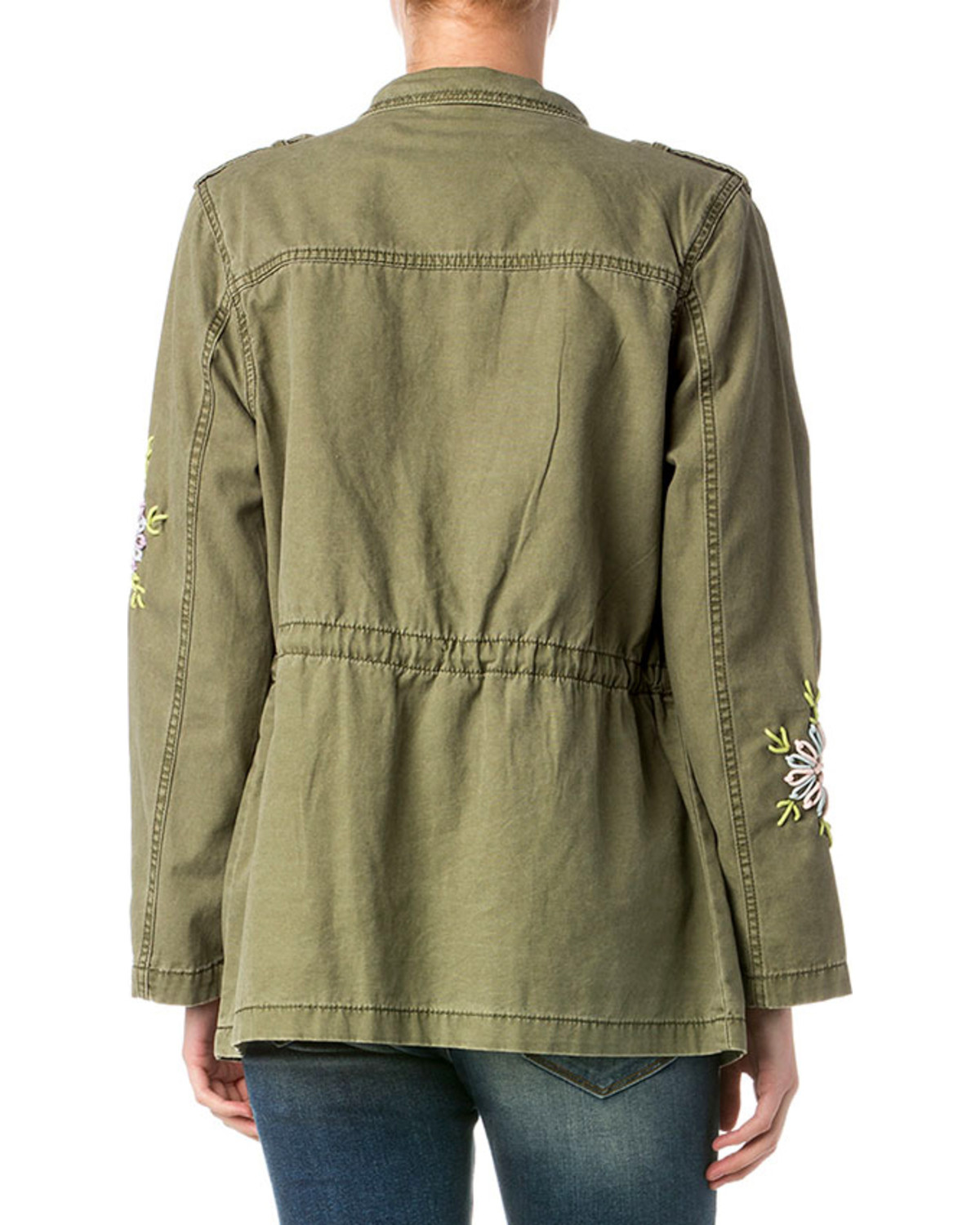 Miss me women s embroidered cargo jacket boot barn