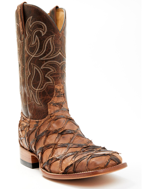 Cody james men 39 s pirarucu exotic boots boot barn for Pirarucu fish boots
