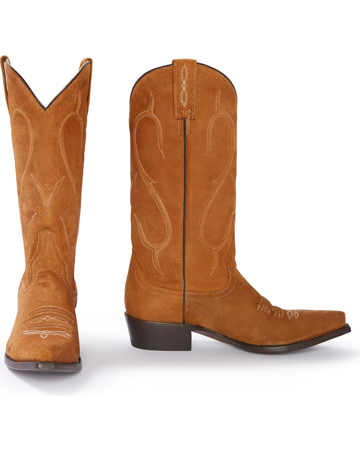 Stetson Women S Reagan Brown Rough Out Western Boots