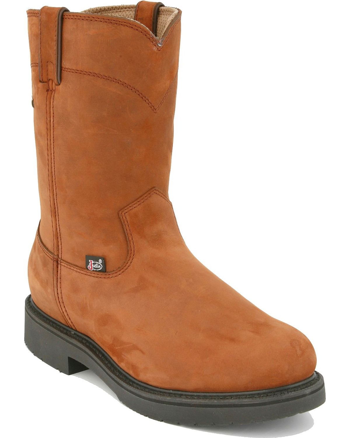 Justin Men S Pull On Waterproof Work Boots Boot Barn