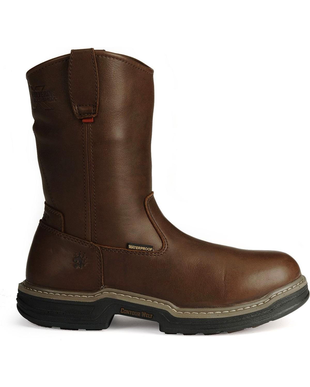 Wolverine Men's Buccaneer Multishox® Waterproof Wellington Work Boots, Dark  Brown, ...