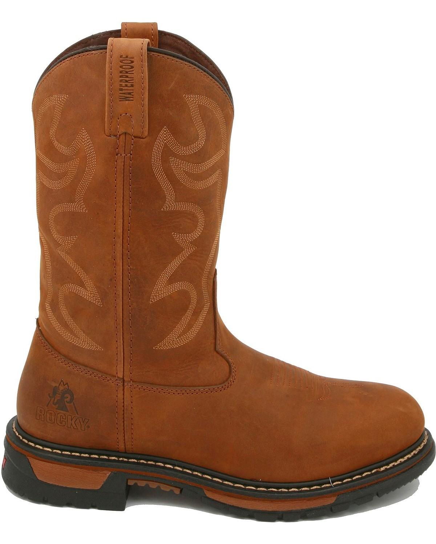 Rocky Original Ride Branson ... Roper Men's 11-in. Waterproof Western Work Boots nFBvUuJZp